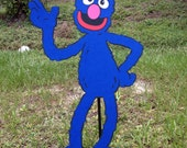"Sesame Street Large Grover Decoration 18.5"" tall Stand Up, standee, Sesame Street Photo Prop, Sesame Street Decor"