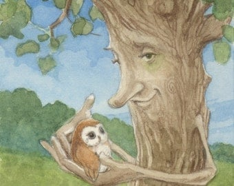 Healing Tree and Owl 5x7