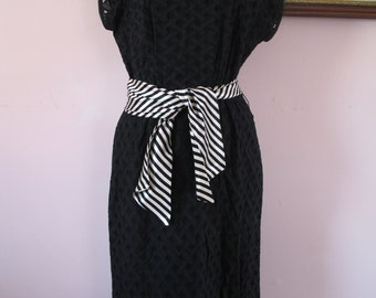 1950's Cute Little Black Dress, R & K Originals