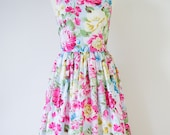 "SALE - Vintage inspired floral dress - Bust size 34"" , SALE"