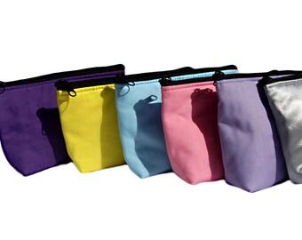 Bridesmaids Gift Set 6 Makeup Bags - Pick Your Colors