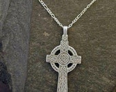 Sterling Silver Celtic Cross Pendant on Sterling Silver Chain.