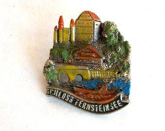 Vintage Pin Austrian Alps/Schloss Fernsteinsee