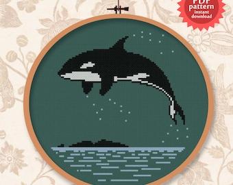 Awesome Orca - PDF cross stitch pattern