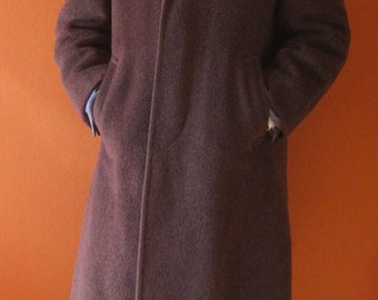1950s Burnt Orange Overcoat Sz 38-40