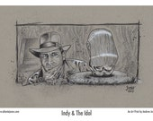 Indy and the Idol Print