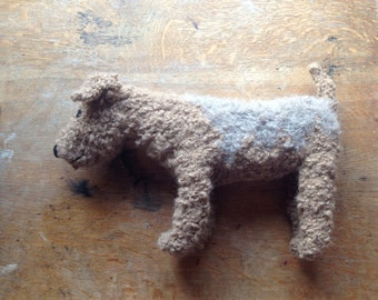 Custom knitted large dog - Sniff