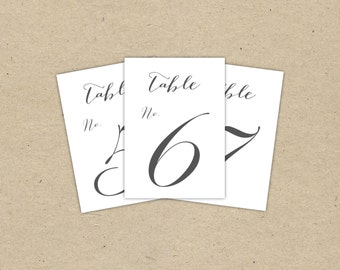 table numbers for wedding reception templates - mint table numbers instant download classic templates in
