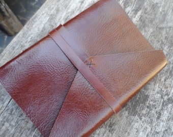 "Old Times Handmade Leather Journal / 5x7"" / Free Initials / Plain or Lined"