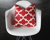 "Red Moroccan Decorative Pillow Cover- 13x20"" Lumbar- Holidays- Christmas"