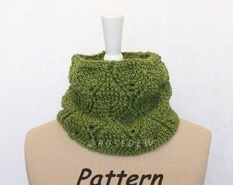 Instant Download to PDF CROCHET Pattern: Leafy Neck Warmer