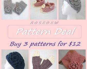PDF CROCHET Pattern Deal: Buy 3 Patterns and Save