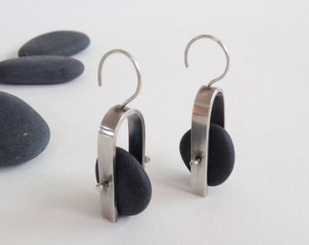 Industrial Beach Rock Earrings