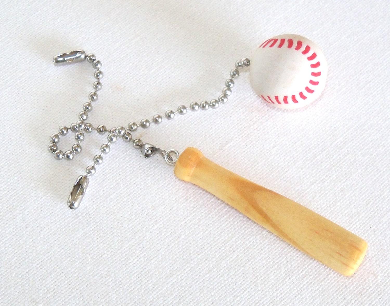 Baseball Amp Bat Ceiling Fan Pull Set Practical Gift