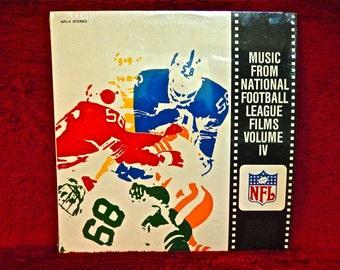 NATIONAL FOOTBALL LEAGUe - Music From National Football League Films Volume IV - 1979 Vintage Vinyl Record Album