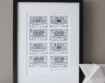 Cassette Tape Print