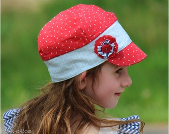 Reversible Oxford Cap: Hat Sewing Pattern, Baby Hat Sewing Pattern