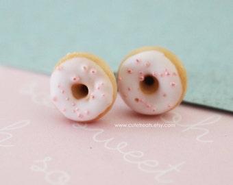 Food jewelry - Doughnuts stud earrings hypoallergenic (Surgical Steel)