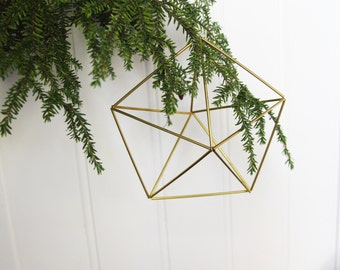 Inverted star - geometric ornaments - himmeli mobiles