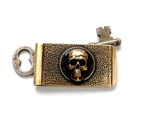 Pirate Money Clip Skull Crossbones Money Clip Skull Money Clip Mens Gothic Skull Money Clip Mens Steampunk Jewelry By Victorian Curiosities