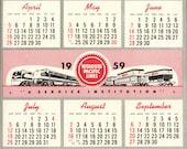 1959 Missouri Pacific Railroad Hanging Wall Calendar MP RR