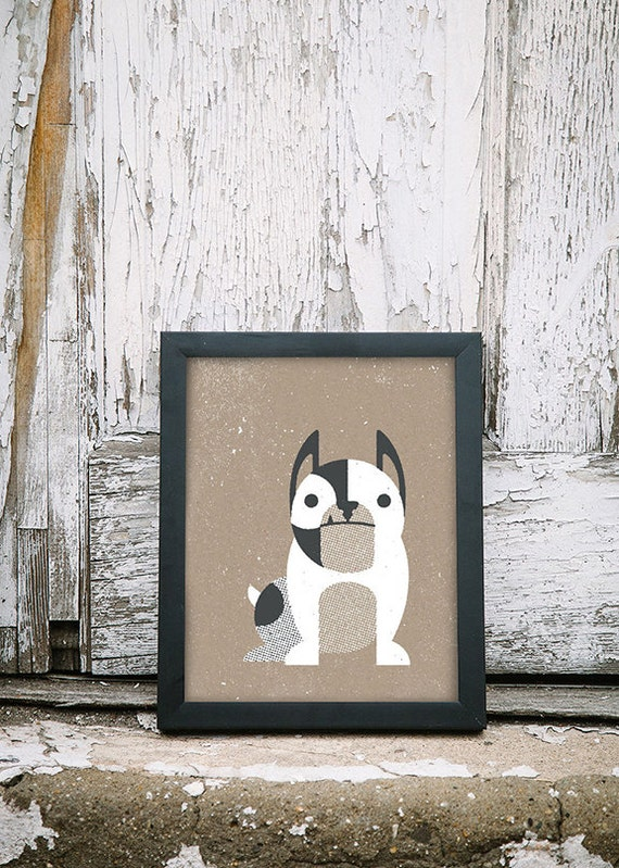 French Bulldog Inspired Art Print