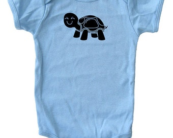 Turtle Baby Shirt - 3 Colors - Boy or Girl Baby Bodysuit - Shirt - Green Pink Blue - 3-6 mo, 6-12 month, 12-18 month, and 18-24 month - Gift