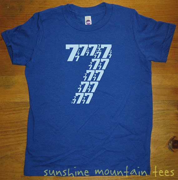 birthday shirt 7 year old shirt 7th birthday number