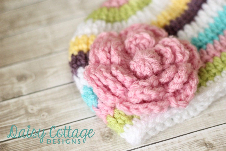 Giant Crochet Flower Pattern : Large Crochet Flower Pattern Flower Applique Pattern Instant