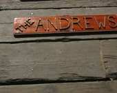 MADE TO ORDER Last Name Plaque Great Gifts Personalize for Anyone
