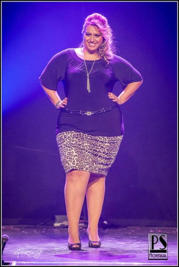 Plus size pencil skirt  - Leopard Print Cotton  - custom sizes 12-22 *pin-up*