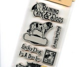Raining Cats and Dogs 1 - Cling Mounted Rubber Stamps from Graphic 45 - New Release