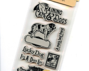 Raining Cats and Dogs 1 - Cling Mounted Rubber Stamps from Graphic 45