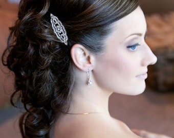 Rhinestone Hair comb, Rhinestone bridal comb,  vintage, wedding jewelry, Mandy Hair comb
