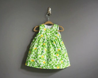 Sleeveless Baby Girl Dress - Shamrocks