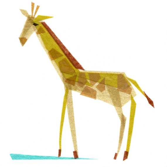 Emma Giraffe -  Animal Art Print