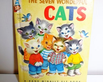The Seven Wonderful Cats - A Rand McNally Elf Book - 1956 -  Elizabeth Webbe