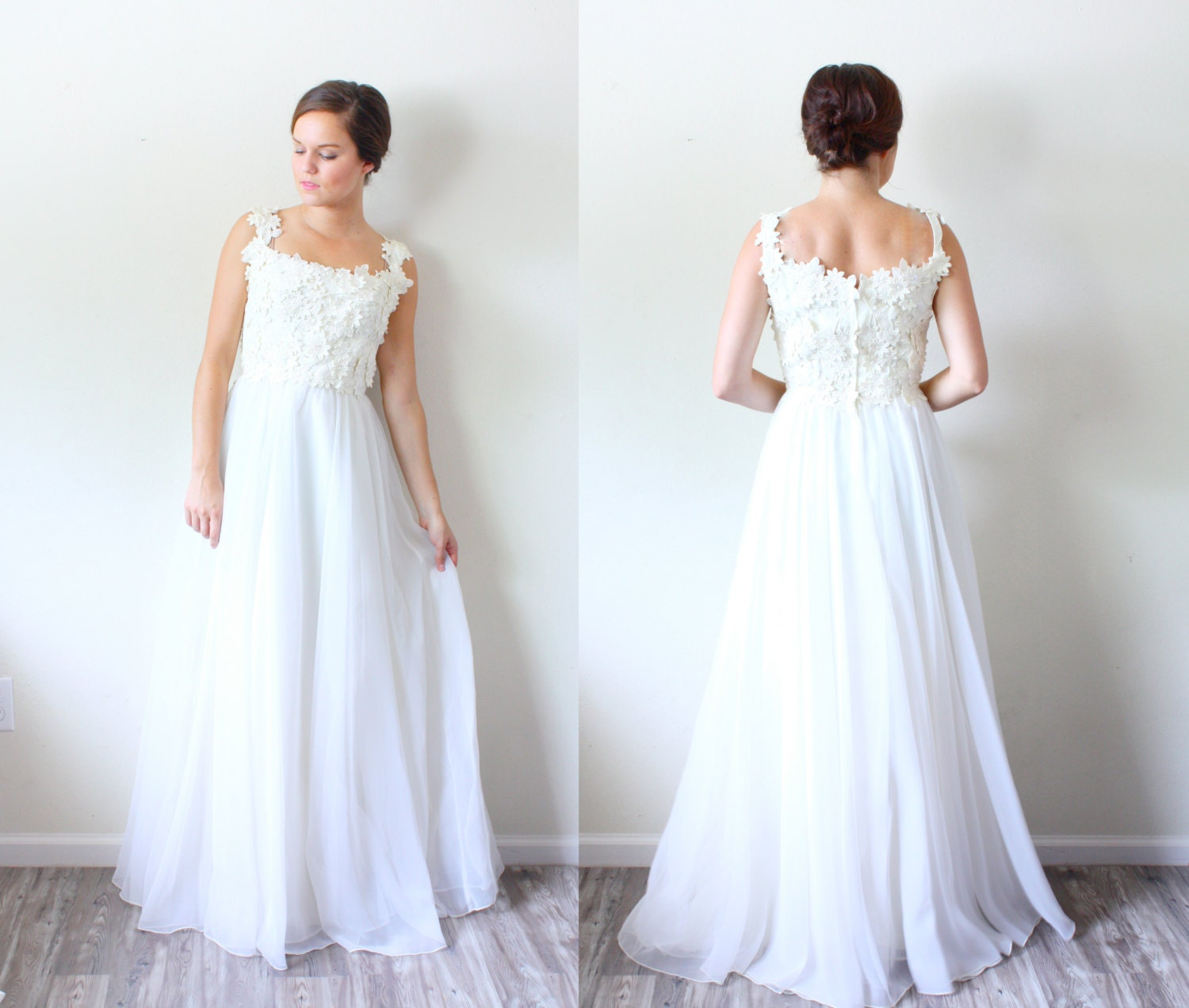 Pictures Of Shabby Chic Wedding Dresses : Vintage wedding dress shabby chic floral lace top