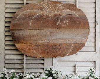 Rustic Wood Pumpkin Halloween Decor Thanksgiving Decor Autumn Pumpkin Sign