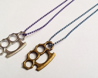 Sale! knuckle duster Necklaces
