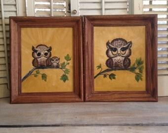 Owl Art Owl Wall Hangings Owls