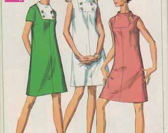 1968 Misses' Dress Simplicity 7676 Size 12 Bust 34