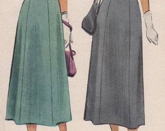 FACTORY FOLDED 1948 Misses Skirt McCall 7337 Waist 28