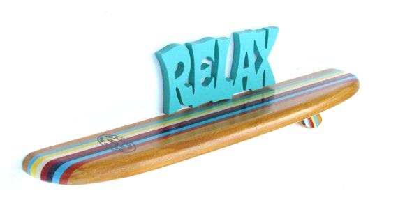 Mini Planche De Surf Deco : Surfboard shelf inches classic stripes mini board