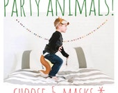 Party Animals! Party Pack-5 Masks