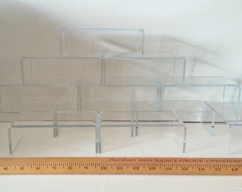Display supply clear acrylic risers 2 pieces