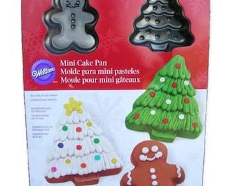 Mini Cake Pan Christmas Tree ~ Gingerbread Man