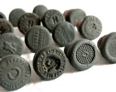 RESERVED Vintage Screw and Washer Stoppers, Set of 15, Black Ceramic, Aerated Water Bottle Stops, Craft Supplies by SarahSeaGlass