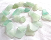 Top Quality Seaglass, Jewelry Grade A, Perfectly Frosted, Seafoam, Medium/Large Sized Pendant, Jewelry Supplies