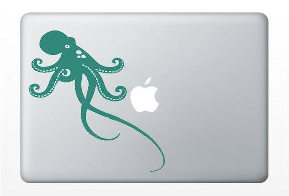 Octopus laptop DECAL- macbook iPad computer- vinyl sticker - ocean animal